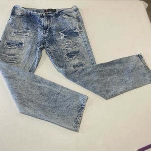 Southpole Mens Distressed Jeans 36x32